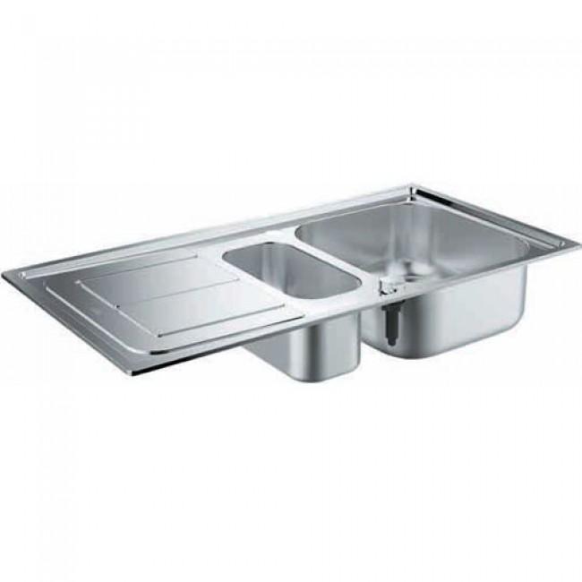 Кухненска мивка от неръждаема стомана с отцедник 31564SD0