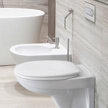 Структура за вграждане Pestan Fluenta + тоалетна чиния Fluenta +хром бутон