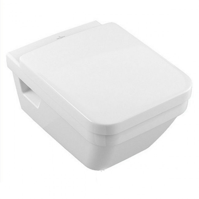 Конзолна тоалетна чиния с капак със забавено падане 37/56 см